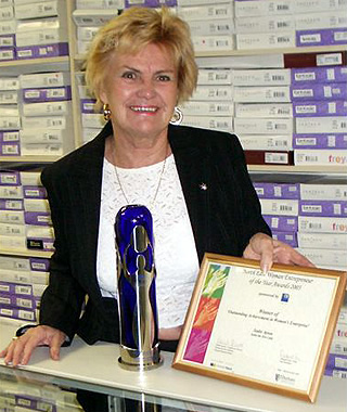 winner of Outstanding Achievement in Women's Enterprise at the North East Woman Entrepreneur of the Year Awards 2005