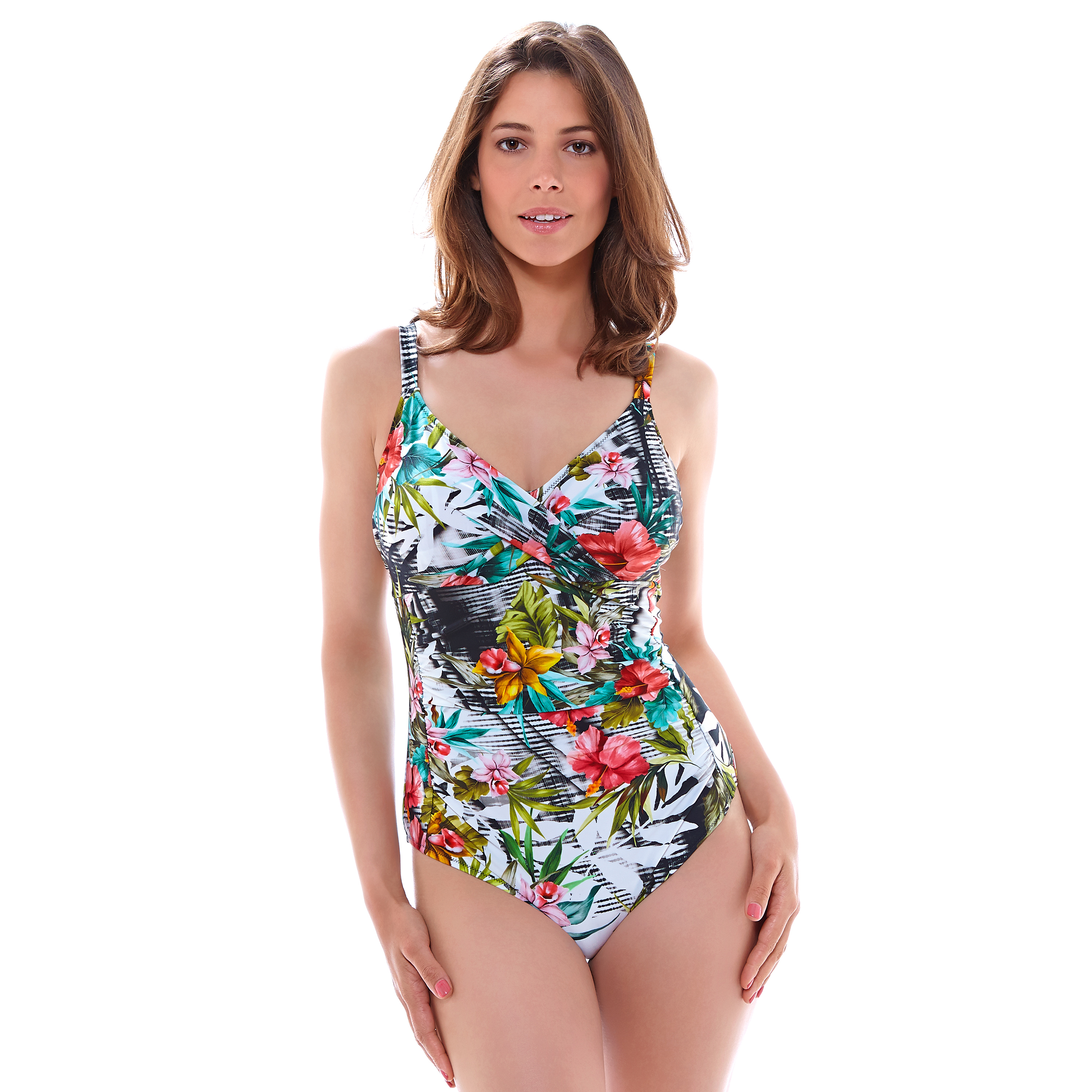 Fantasie Wakaya wrap front swimsuit