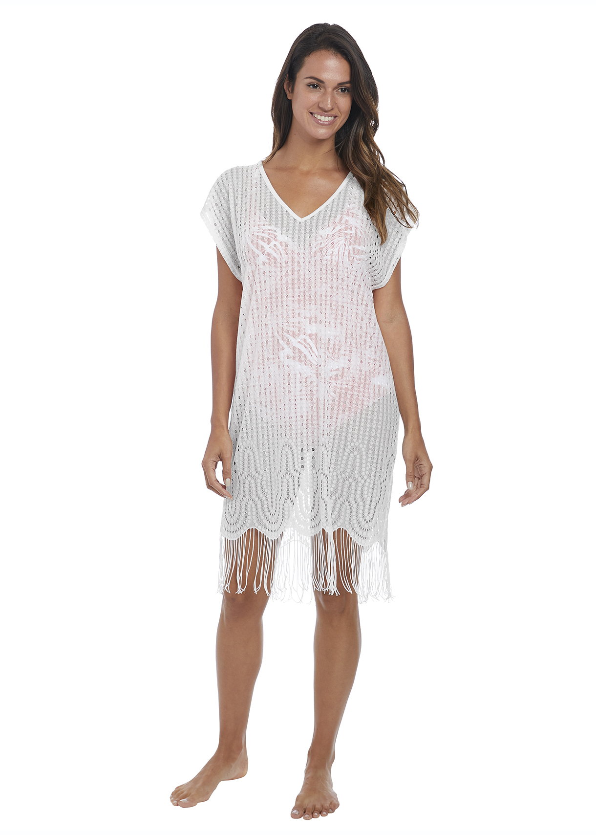 Fantasie Antheia White tunic dress